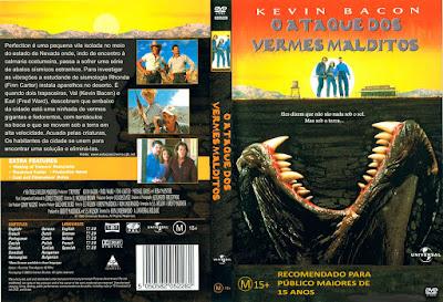 Filme O Ataque Dos Vermes Malditos DVD Capa