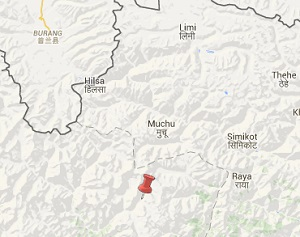 Earthquake epicenter map of Bajhang,Nepal