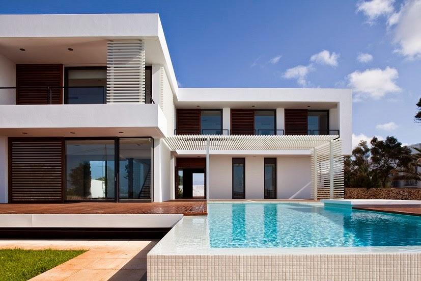 Casa moderna en menorca por dom arquitectura menorca for Fotos de casas modernas tipo 2