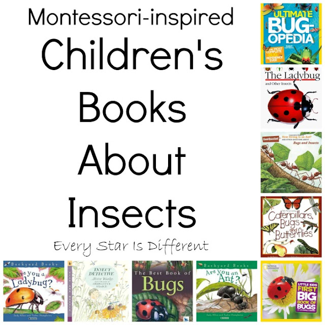 Montessori-inspired children's books about insects
