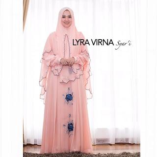 Model Gamis Lyra Virna Syar'i Terbaru