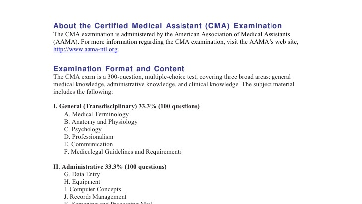 Cma Aama Cma Certified Medical Assistant Assistant