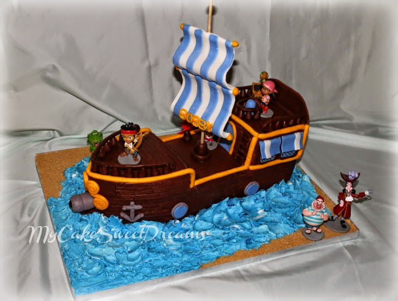 My Cake Sweet Dreams Jake and The Neverland pirate ship cake