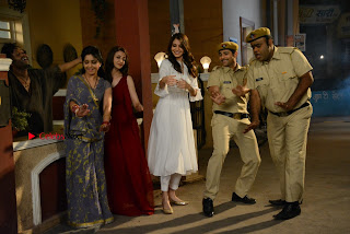Saumya Tandon Aasif Sheikh Anushka Sharma Shubhangi Atre and Rohitash Gaud on the sets on Bhabhi Ji Ghar Par Hai  0003.JPG