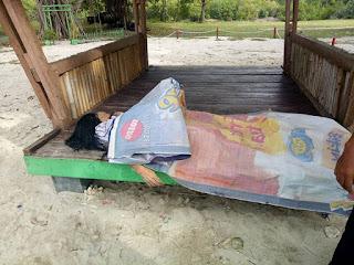 Ditemukan Mayat Wanita terapung di Pantai Embe Merak belantung Kalianda