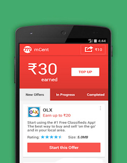 Mcent Free Recharge Android App