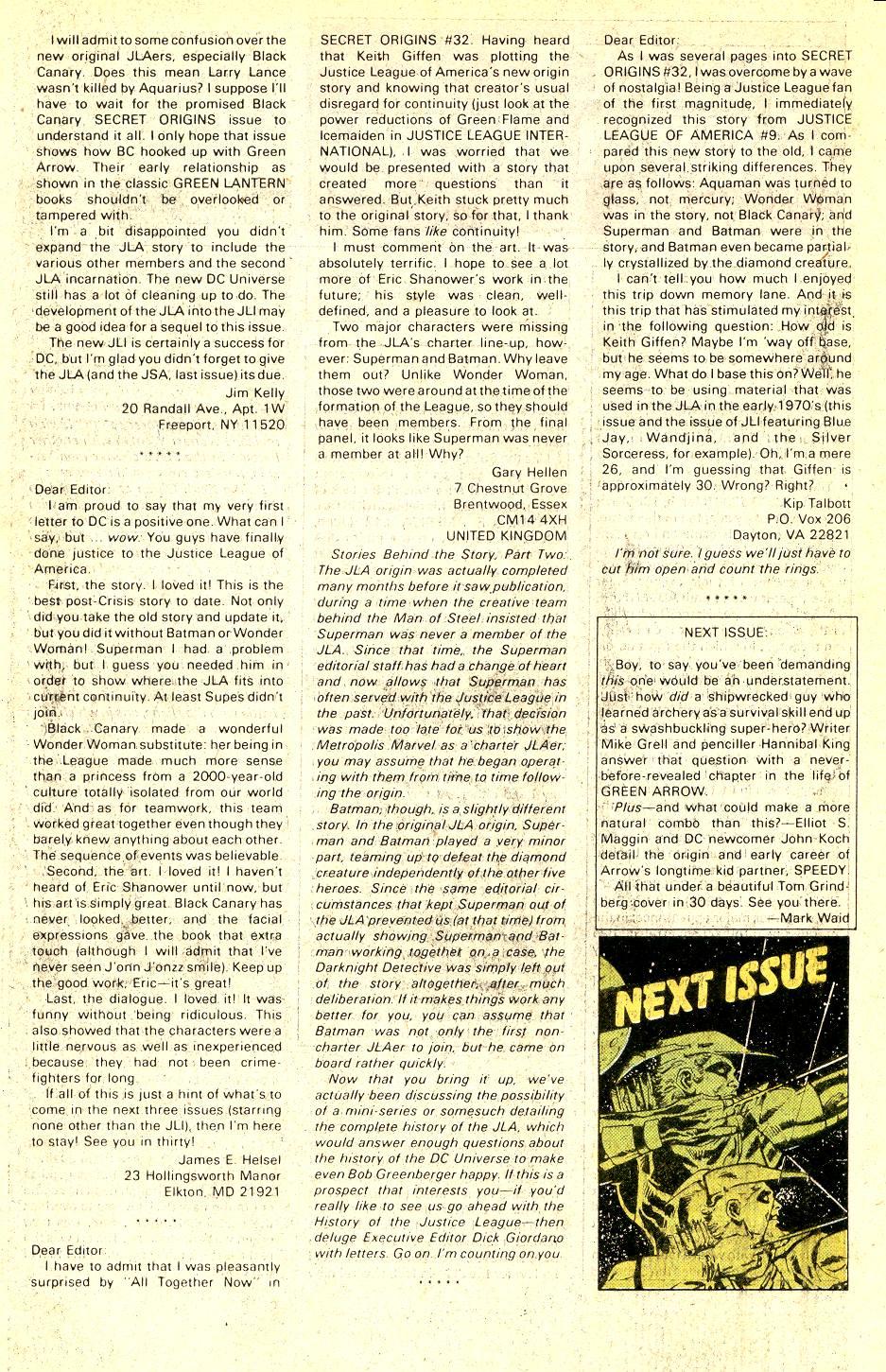 Read online Secret Origins (1986) comic -  Issue #37 - 45