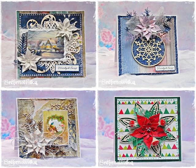 4 świąteczne kartki