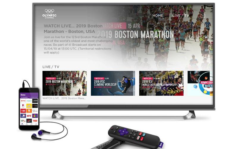Olympic Channel en la plataforma online Roku