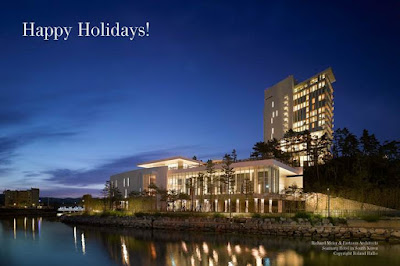 Modern Florida Holiday Greetings from Tobias Kaiser, Real Estate Broker and Modern Home Specialist