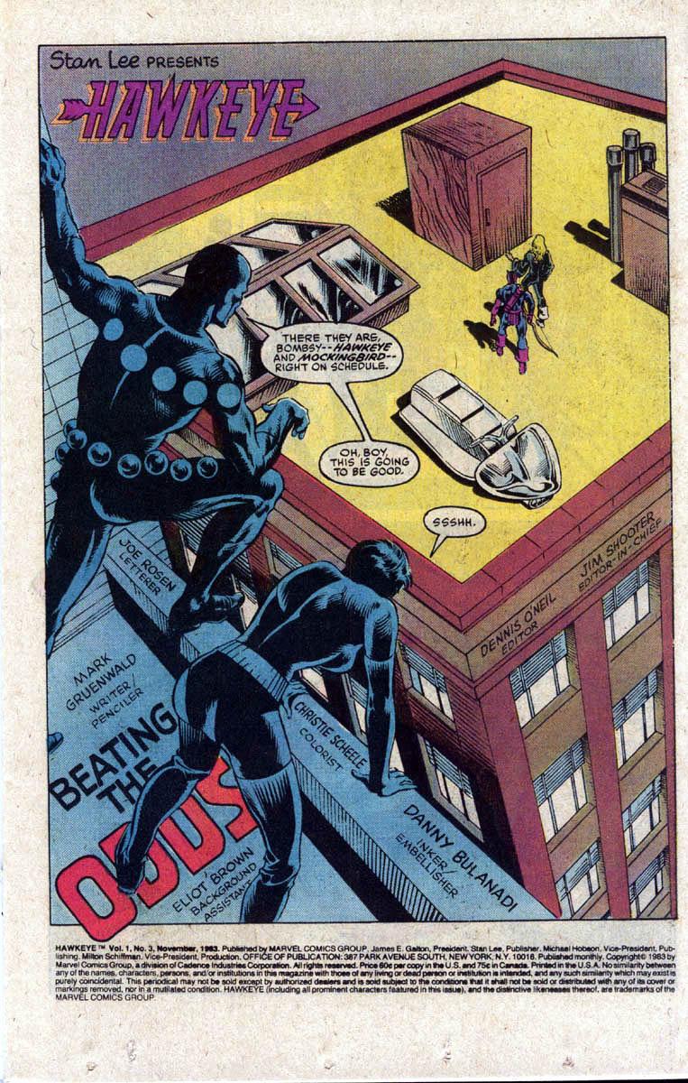 Hawkeye (1983) Issue #3 #3 - English 2