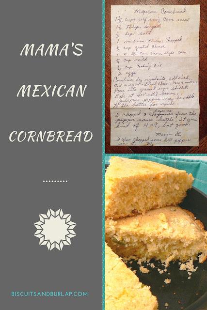 cornbread, recipe, biscuits and burlap, TOHOT