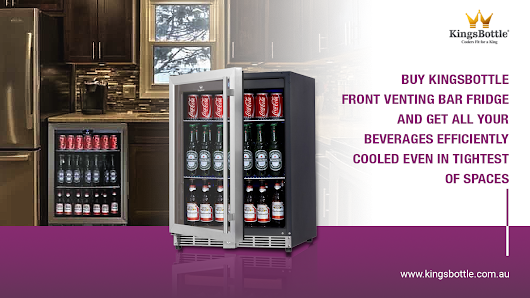Buy KingsBottle AUS Front Venting Bar Fridge and Get All Your Beverages Efficiently Cooled Even In Tightest Of Spaces