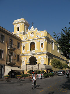 The Sanctuary that overlooks Piazza Tasso in Sorrento contains the shrine to San Giuseppe Moscati