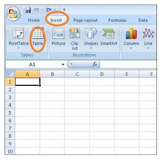 cara membuat tabel di microsoft excel