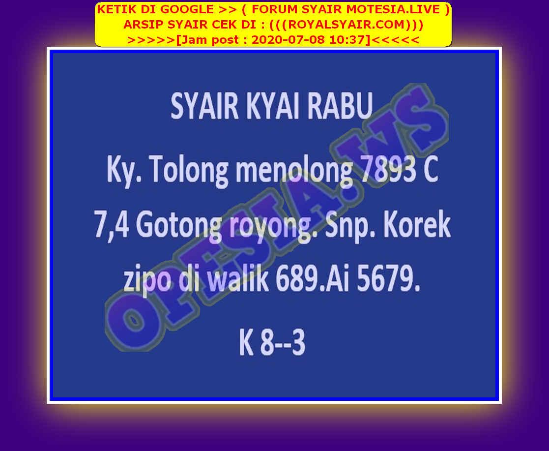 Kode syair Singapore Rabu 8 Juli 2020 49