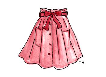 skirt by Yukié Matsushita