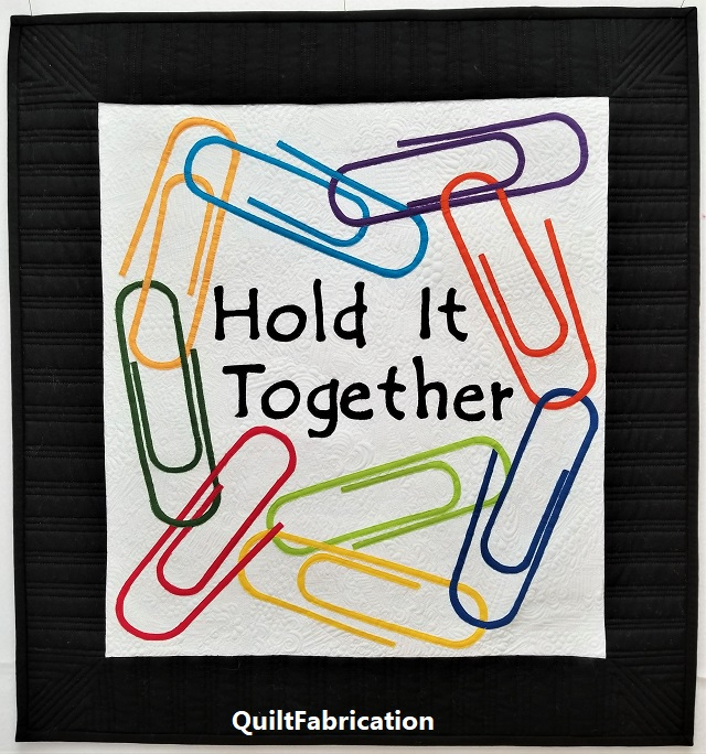 paperclips-office supply-hold-it-together-wall-hanging