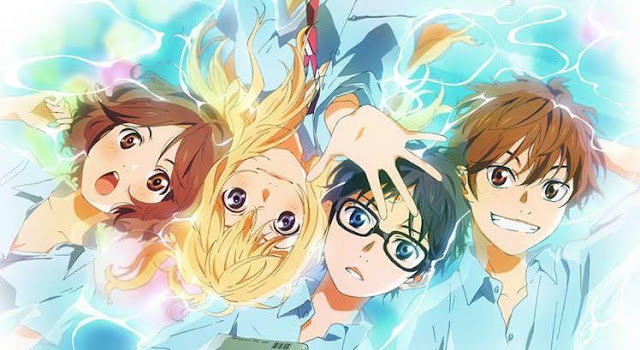 Your Lie in April (Shigatsu wa kimi no uso) - Top Best anime by A-1 Pictures List