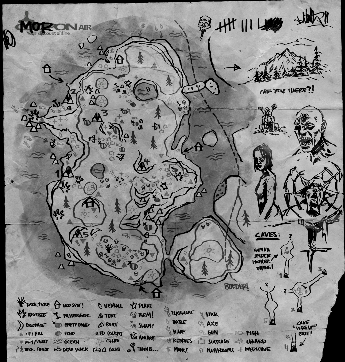 Mapa De The Forest.Kopfstoff The Forest Fan Art Sitten Plus A Map