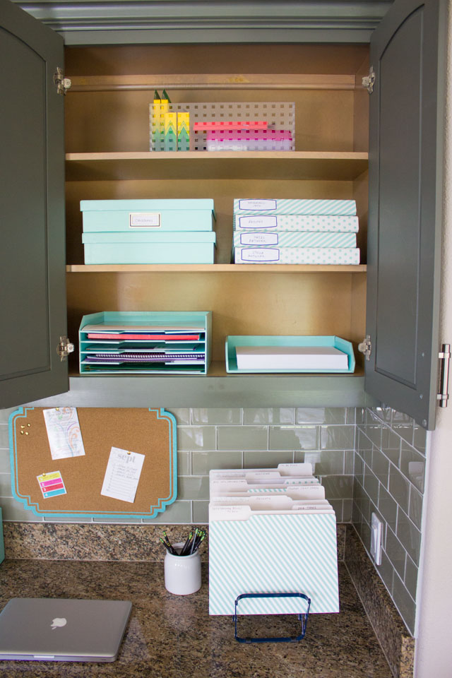 Pretty office storage from Martha Stewart