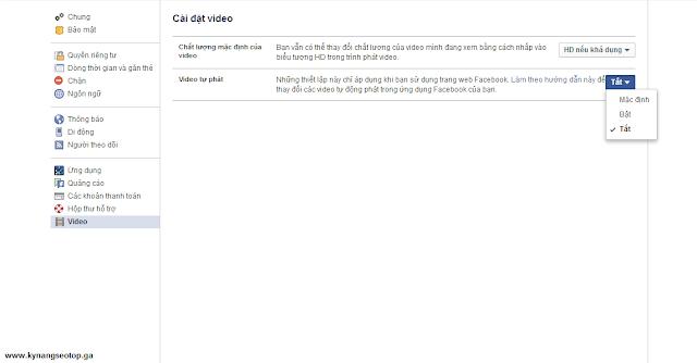 Hướng dẫn tắt autoplay video facebook