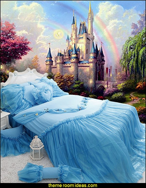 Decorating theme bedrooms maries manor castle bed for Castle mural wallpaper