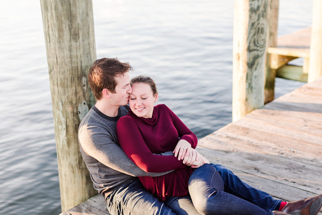 Downtown Annapolis Winter Engagement Photos by Heather Ryan Photography