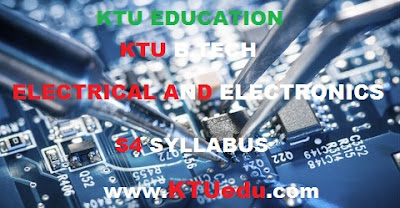 ELECTRICAL AND ELECTRONICS ENGINEERING KTU B-TECH MODIFIED S4 SYLLABUS 2017 - KTUEDUCATION