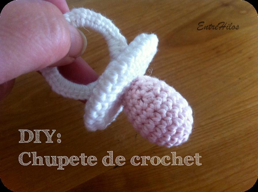 como hacer un chupete de crochet