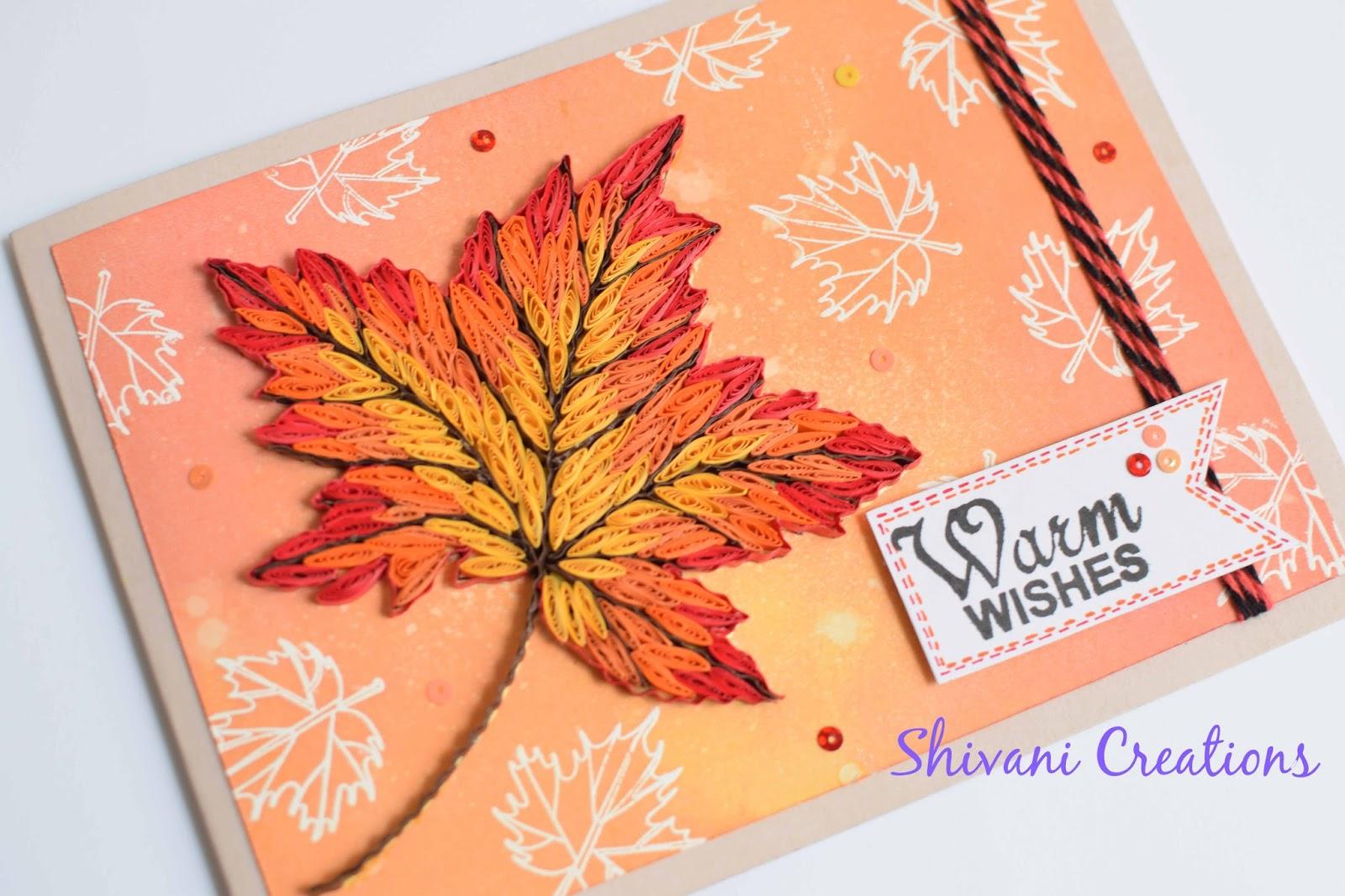 Осенний лист открытка своими руками, клеткам