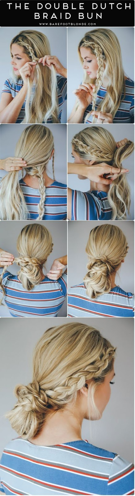The Double Dutch Braid Bun