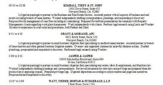 Litigation Paralegal Assisting Sample Resume Format in Word Free