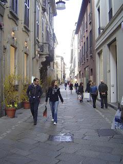 Elegant Via della Spiga in Milan's 'fashion quadrilateral'