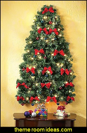Lighted Christmas Wall Tree  Christmas decorating ideas - Christmas decor - Christmas decorations - Christmas kitchen decor - santa belly pillows - Santa Suit Duvet covers - Christmas bedding - Christmas pillows - Christmas  bedroom decor  - winter decorating ideas - winter wonderland decorating - Christmas Stockings Holiday decor Santa Claus - decorating for Christmas - 3d Christmas cards