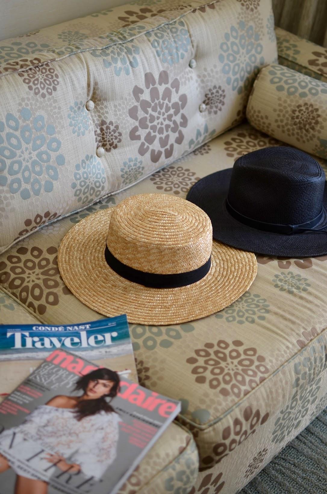 where to stay when in waikiki, shoreline hotel in waikiki, stone cold fox dress, stone cold fox, chic beach wear, cute boater straw hat