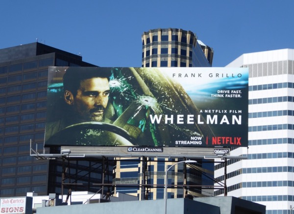 Wheelman movie billboard