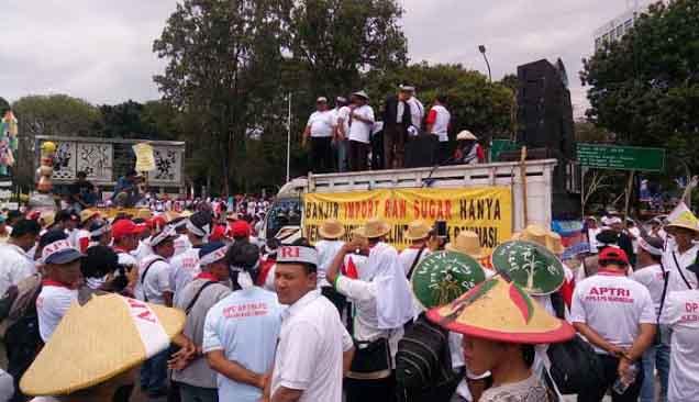 Import Mengganas Gula Petani Tidak Laku, Jokowi Didemo Ribuan Petani Tebu di Istana