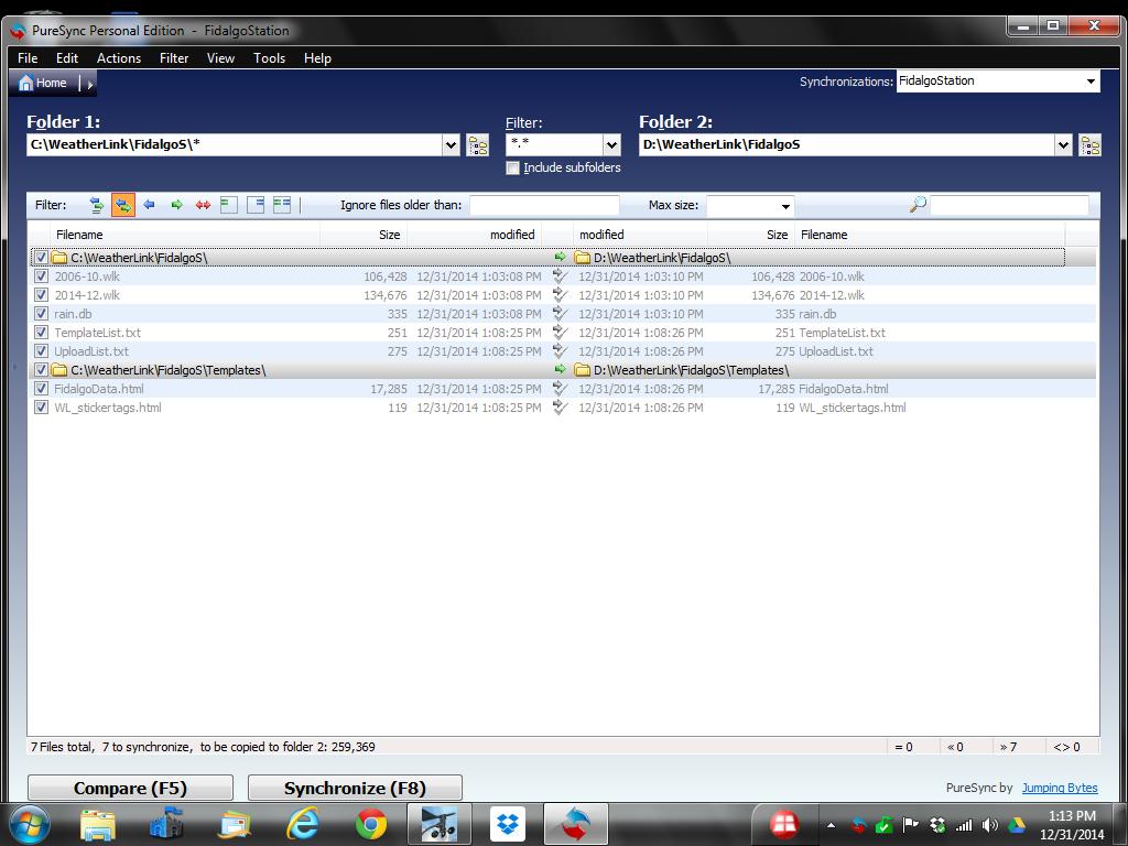 PureSync Folder Screen Shot