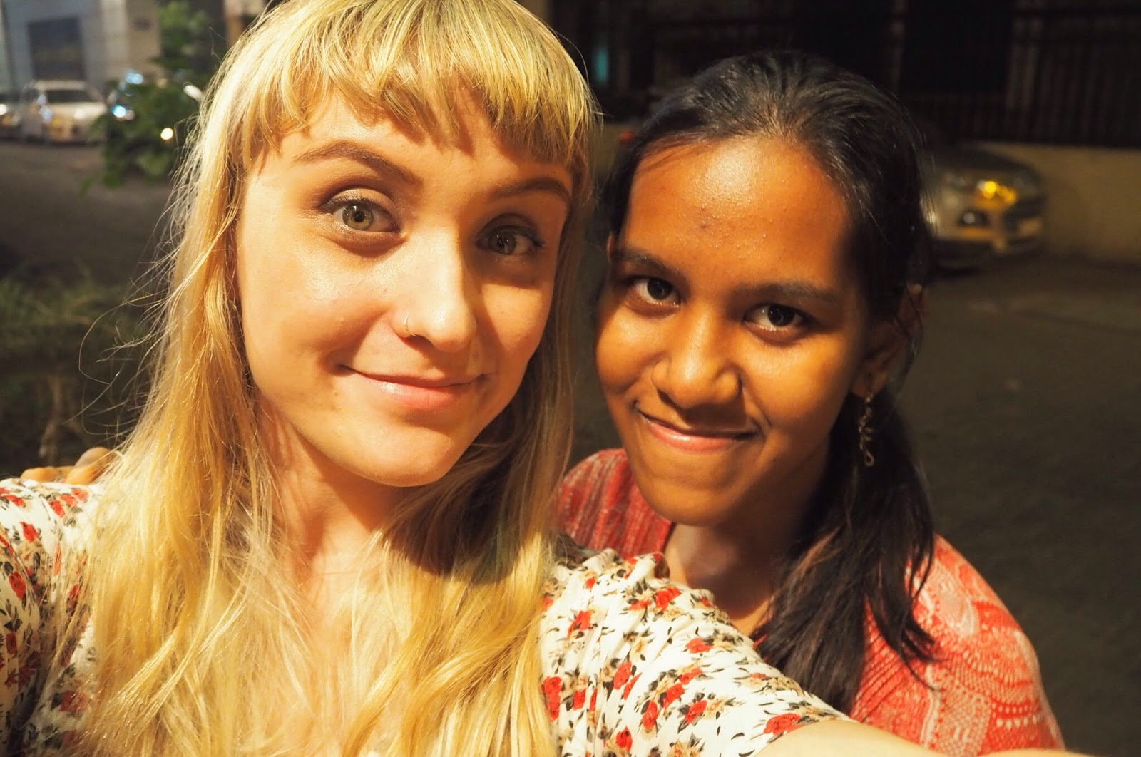 Dulcie and Aditi in Mumbai