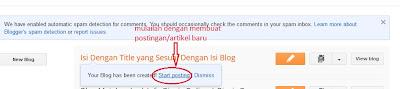 artikel adalah content blogspot