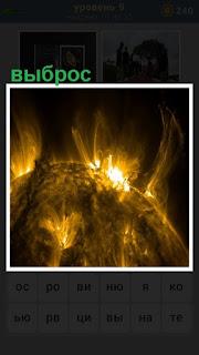 происходит выброс энергии на поверхность планеты