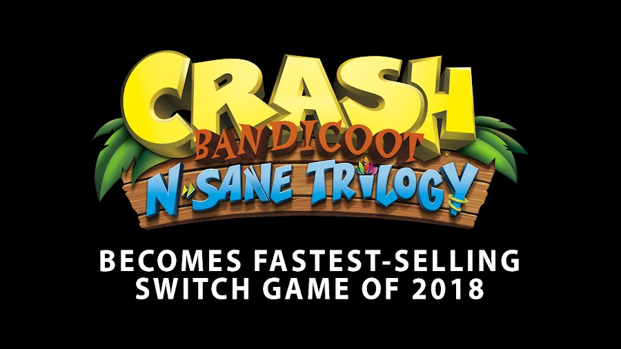crash bandicoot n sane trilogy fastest selling switch