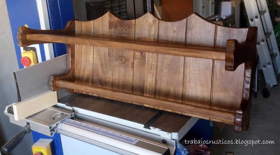 Trabajos r sticos toallero rustico ba o for Toalleros rusticos