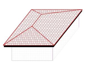 Cara Disain Atap bentuk Limasan pada sebuah Rumah | Proyek ...