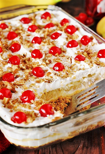 Layered No-Bake Banana Split Cake Image