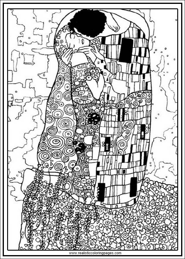 Gustav Klimt Arts Coloring Pages Printable Realistic Coloring Pages