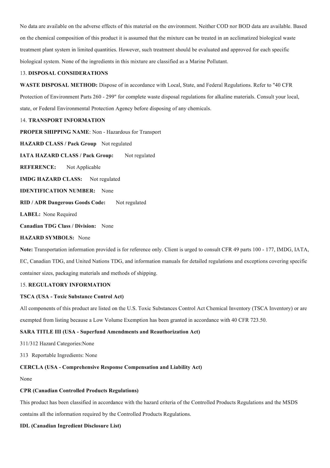 MSDS hoá chất tăng cứng bê tông DG C001 - Trang 4