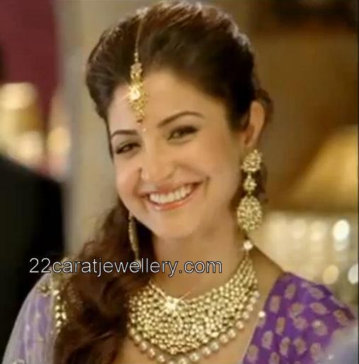 Anushka Sharma In Kundan Bridal Set Jewellery Designs