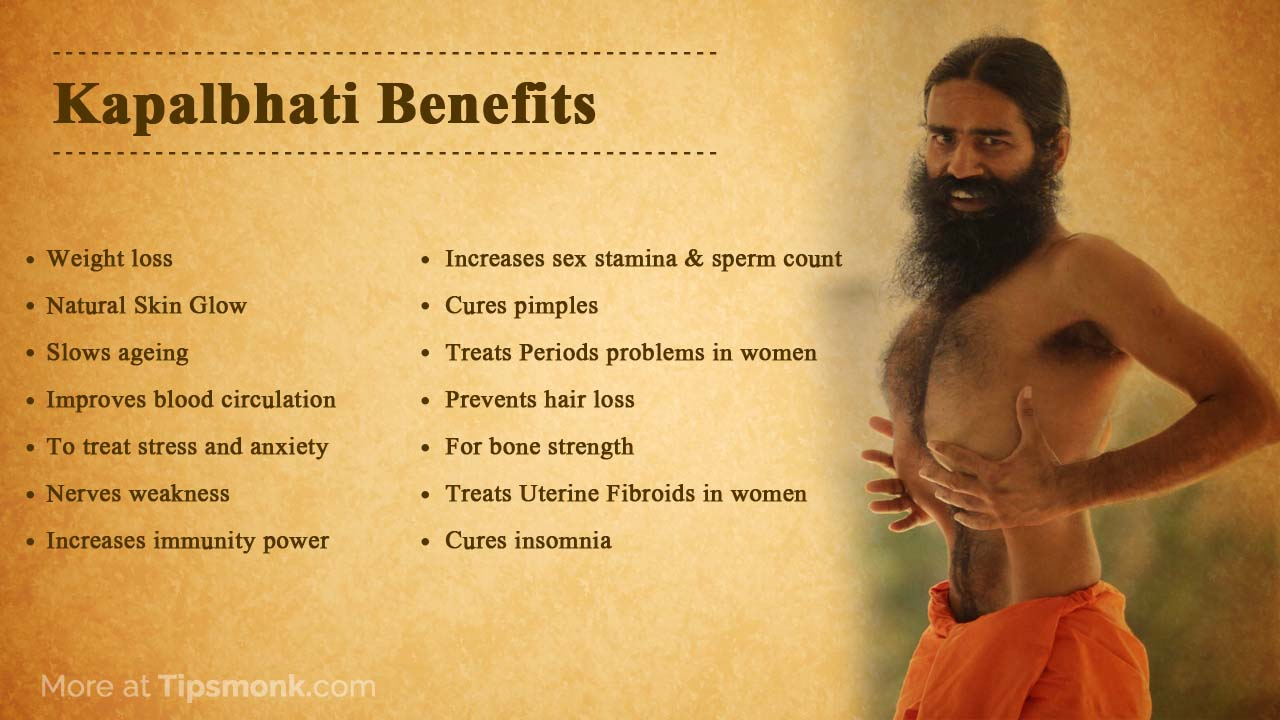 Kapalbhati benefits for weight loss, skin, health by baba ramdev image